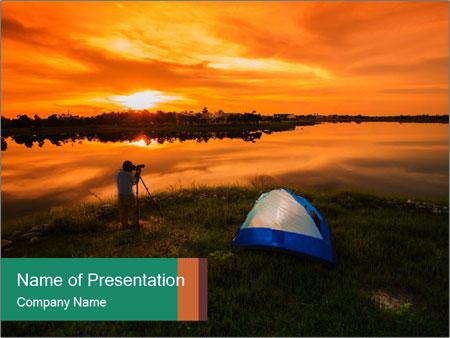 The tourist tin sunset PowerPoint Template