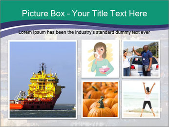 Beautiful evening city PowerPoint Template - Slide 19
