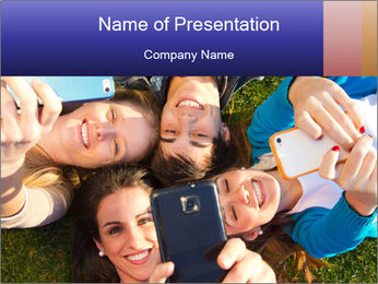 Youth makes selfies PowerPoint Templates - Slide 1