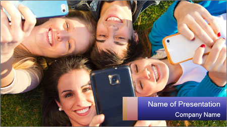 Youth makes selfies PowerPoint Template