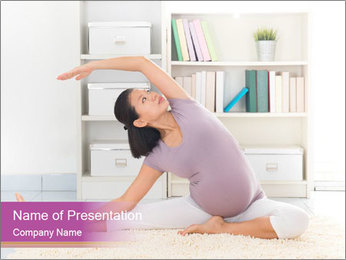 A pregnant girl PowerPoint Template - Slide 1