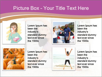 A pregnant girl PowerPoint Template - Slide 14