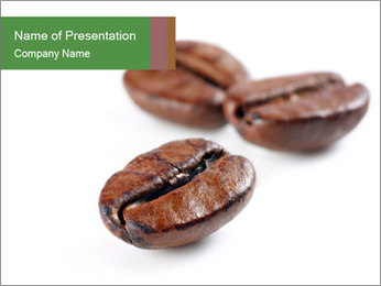 Coffee beans PowerPoint Templates - Slide 1