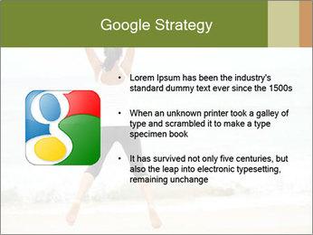 Girl on the beach PowerPoint Template - Slide 10