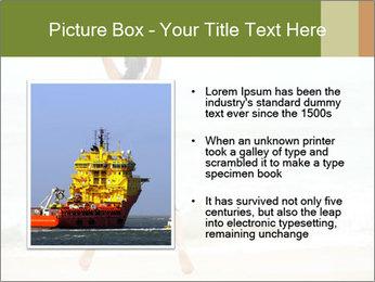 Girl on the beach PowerPoint Template - Slide 13