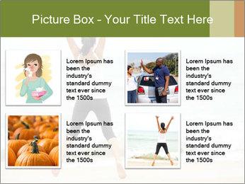 Girl on the beach PowerPoint Template - Slide 14