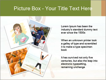 Girl on the beach PowerPoint Template - Slide 23