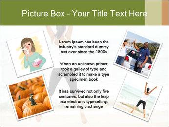 Girl on the beach PowerPoint Template - Slide 24