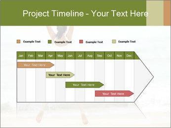 Girl on the beach PowerPoint Template - Slide 25