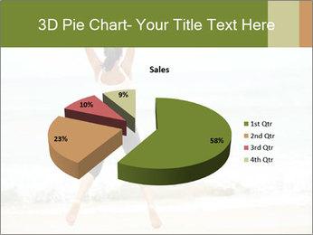 Girl on the beach PowerPoint Template - Slide 35