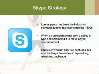 Girl on the beach PowerPoint Template - Slide 8