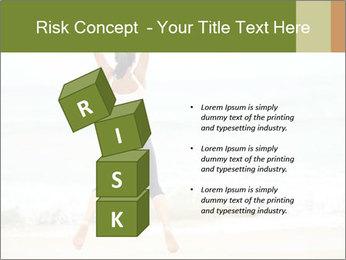 Girl on the beach PowerPoint Template - Slide 81