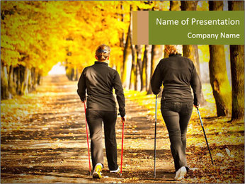 Two women in the park PowerPoint Template