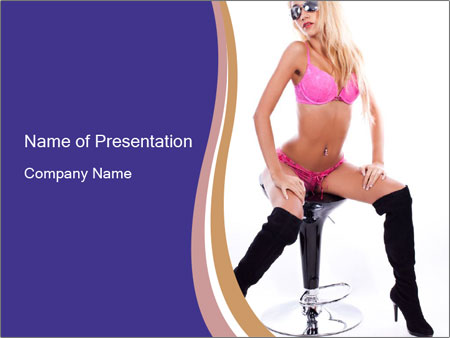 Glamour sexy PowerPoint Template