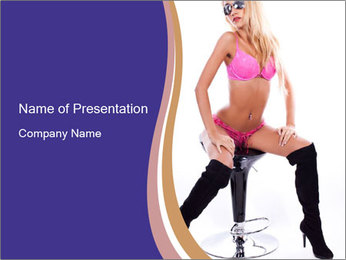 Glamour sexy PowerPoint Template - Slide 1