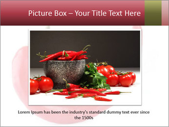 Red hot chili pepper PowerPoint Template - Slide 15