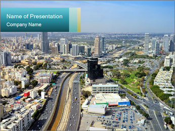 Aerial skyline PowerPoint Template