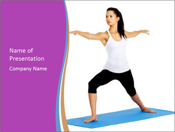 Young yoga woman PowerPoint Template - Slide 1