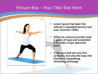 Young yoga woman PowerPoint Template - Slide 13