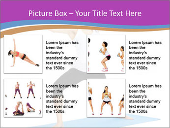Young yoga woman PowerPoint Template - Slide 14