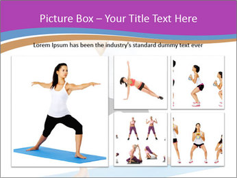 Young yoga woman PowerPoint Template - Slide 19