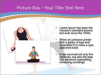 Young yoga woman PowerPoint Template - Slide 20