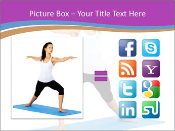 Young yoga woman PowerPoint Template - Slide 21