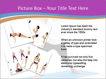 Young yoga woman PowerPoint Template - Slide 23
