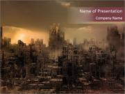 Dark apocalyptic PowerPoint Templates