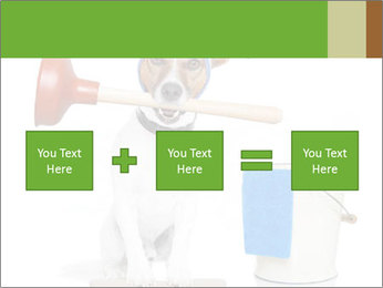Cleaning dog PowerPoint Template - Slide 95