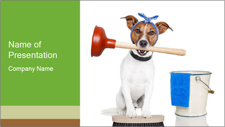 Cleaning dog PowerPoint Template