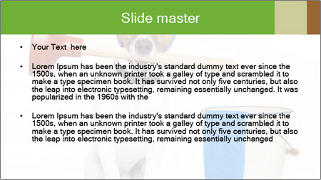 Cleaning dog PowerPoint Template - Slide 2