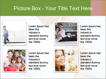 Young beautiful woman sitting PowerPoint Template - Slide 14