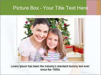 Young beautiful woman sitting PowerPoint Template - Slide 15