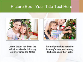 Young beautiful woman sitting PowerPoint Template - Slide 18
