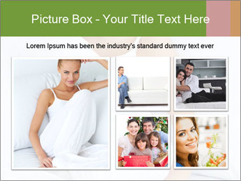 Young beautiful woman sitting PowerPoint Template - Slide 19