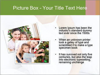 Young beautiful woman sitting PowerPoint Template - Slide 20