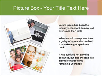 Young beautiful woman sitting PowerPoint Template - Slide 23