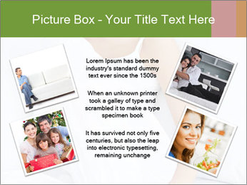 Young beautiful woman sitting PowerPoint Template - Slide 24
