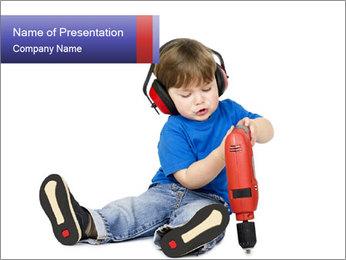 Little boy PowerPoint Template - Slide 1