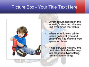 Little boy PowerPoint Template - Slide 13