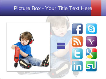 Little boy PowerPoint Template - Slide 21
