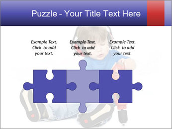 Little boy PowerPoint Template - Slide 42