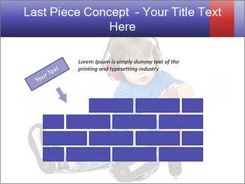 Little boy PowerPoint Template - Slide 46