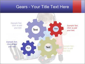 Little boy PowerPoint Template - Slide 47