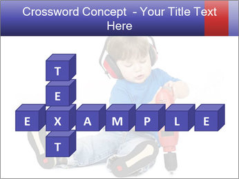 Little boy PowerPoint Template - Slide 82