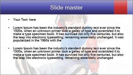 Little boy PowerPoint Template - Slide 2