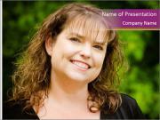 Portrait woman PowerPoint Template