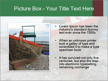 Fishing boat on the beach PowerPoint Template - Slide 13