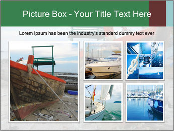 Fishing boat on the beach PowerPoint Template - Slide 19